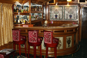 bar in palace on wheels train