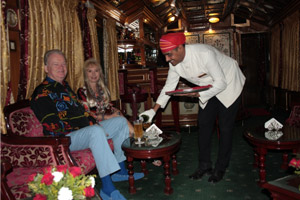 staff serving guests palace on wheels